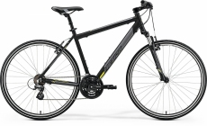 Фото Велосипед Merida CROSSWAY 10-V XL(58cм) MATT BLACK(YELLOW)